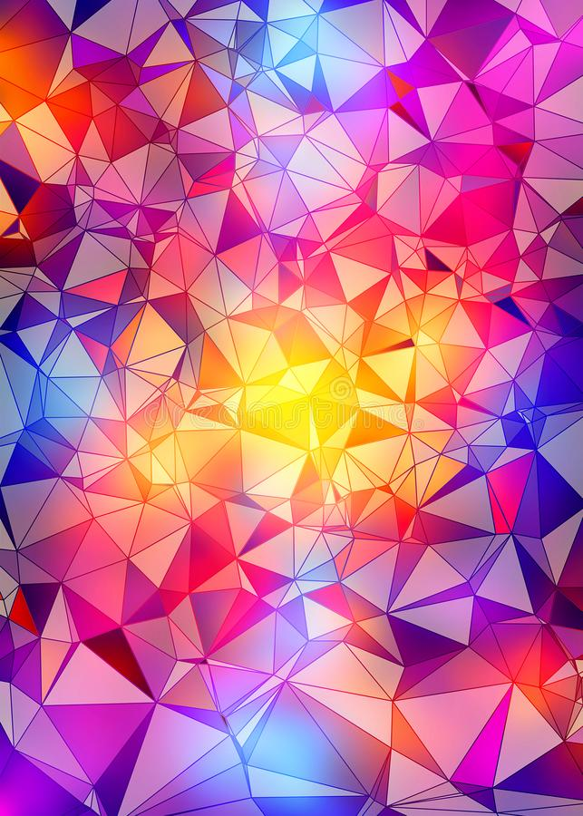 Abstract colorful polygonal background stock photo