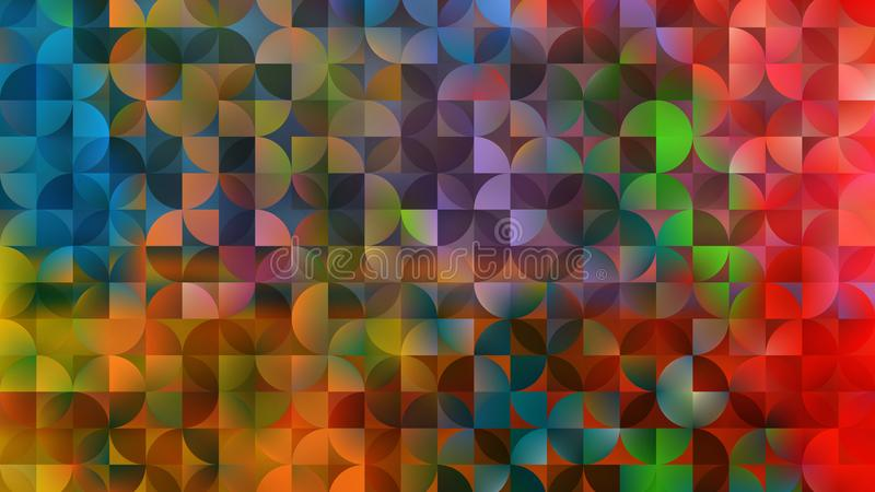 Abstract Colorful Quarter Circles Background stock illustration