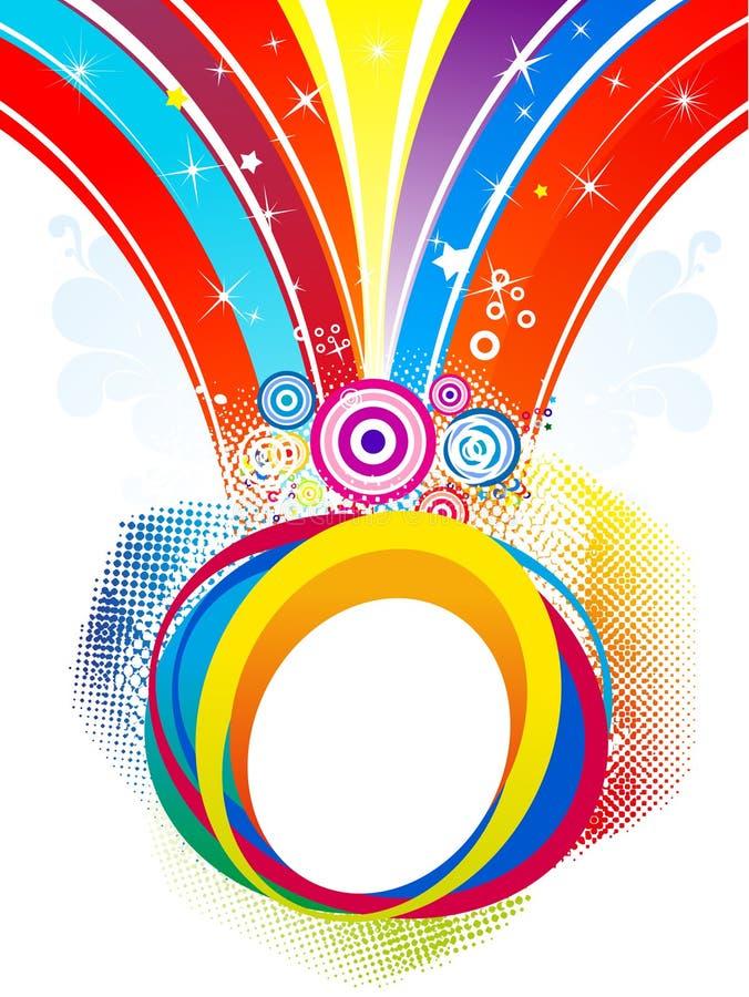 Abstract colorful rainbow splash background. Vector illustration stock illustration
