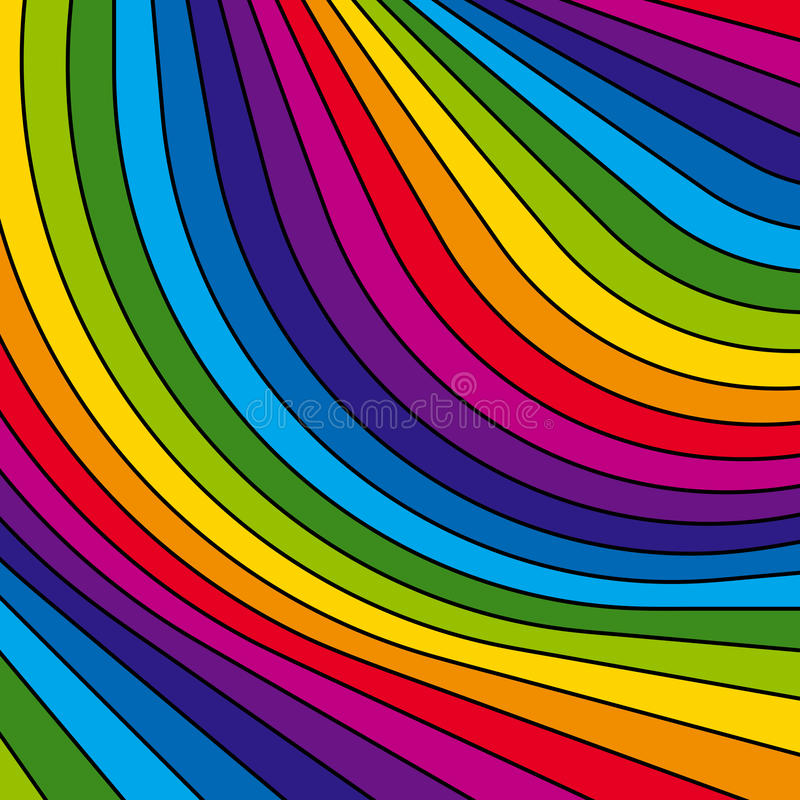 Abstract colorful rainbow stripes. Vector. Vector illustration background depicting colorful rainbow stripes stock illustration