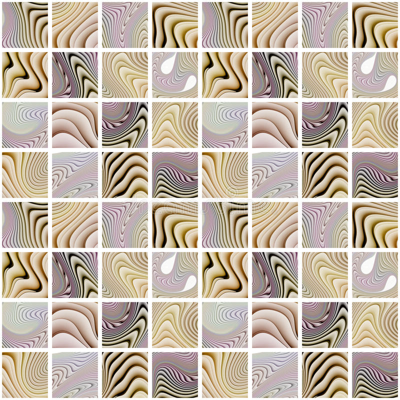 Abstract colorful seamless pattern on white background. Rful seamless pattern on white background. Mosaic ornament in black, brown and faded purple colors stock images
