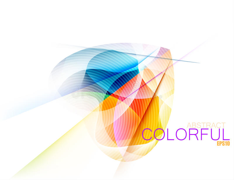 Abstract colorful shape scene. Vector on a white background stock illustration