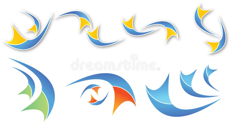 Abstract colorful shapes. A set of abstract colorful shapes for logos vector illustration