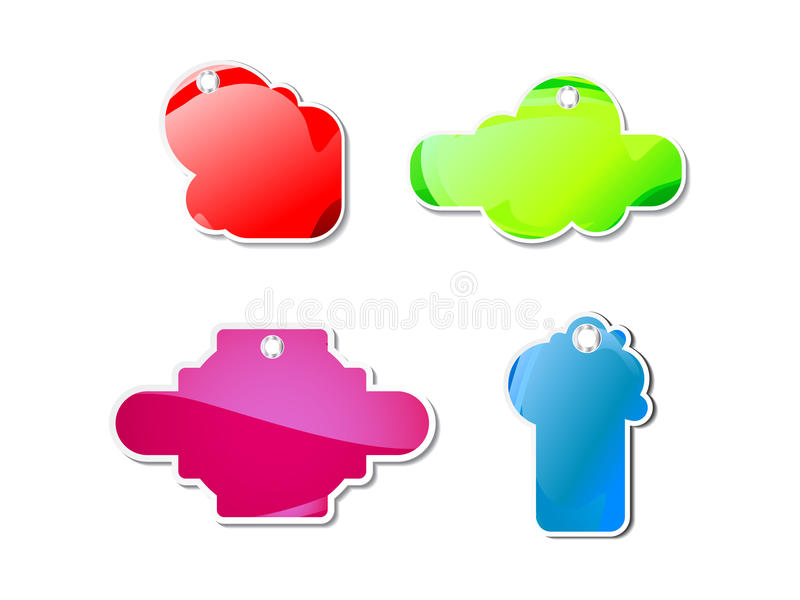 Abstract Colorful Shiny Sale Tag Royalty Free Stock Images