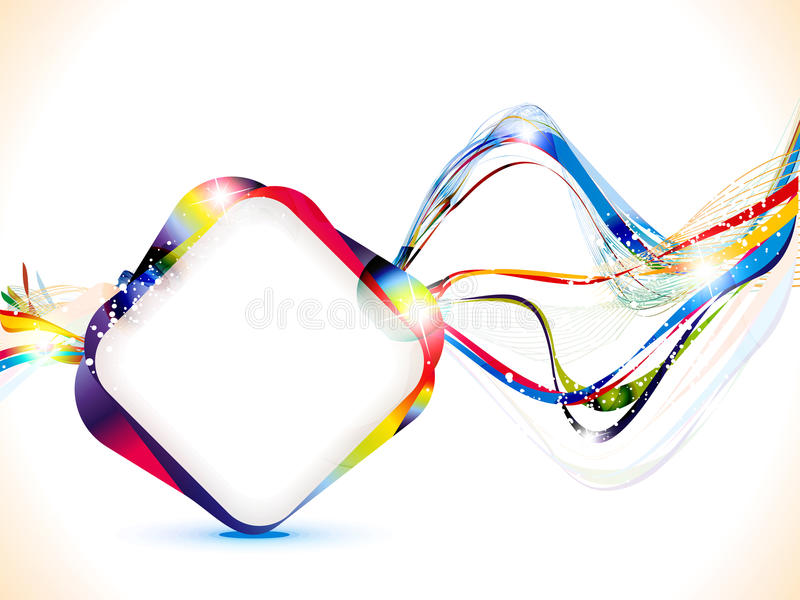 Abstract colorful shiny wave background stock illustration