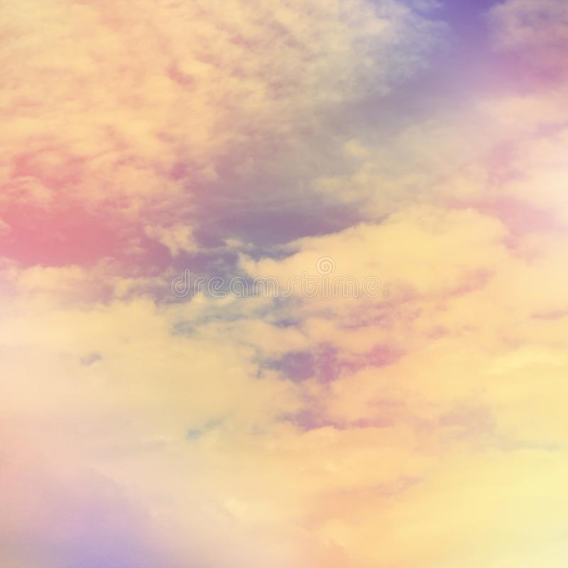 Abstract colorful sky with white clouds background royalty free stock photos