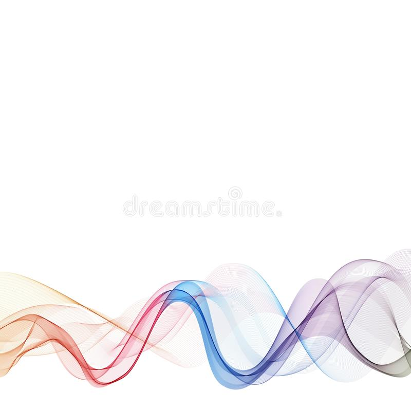 Abstract colorful smoke wave background. layout for advertising stock illustration