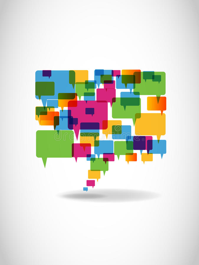Free Abstract Colorful Speech Bubble Stock Photos - 19422103