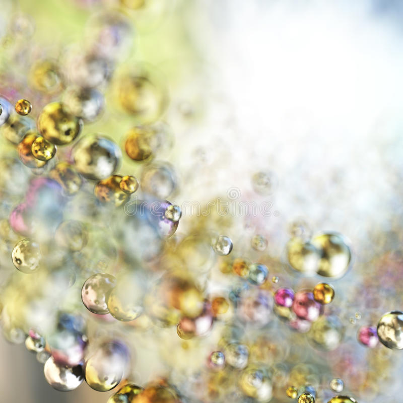 Abstract colorful spheres stock photo