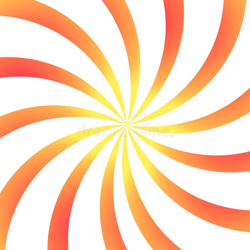 Abstract colorful spiral vector background. Illustration of swirl colorful. Positive energy rotation. royalty free illustration