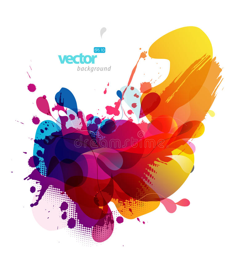 Abstract colorful splash illustration. stock illustration