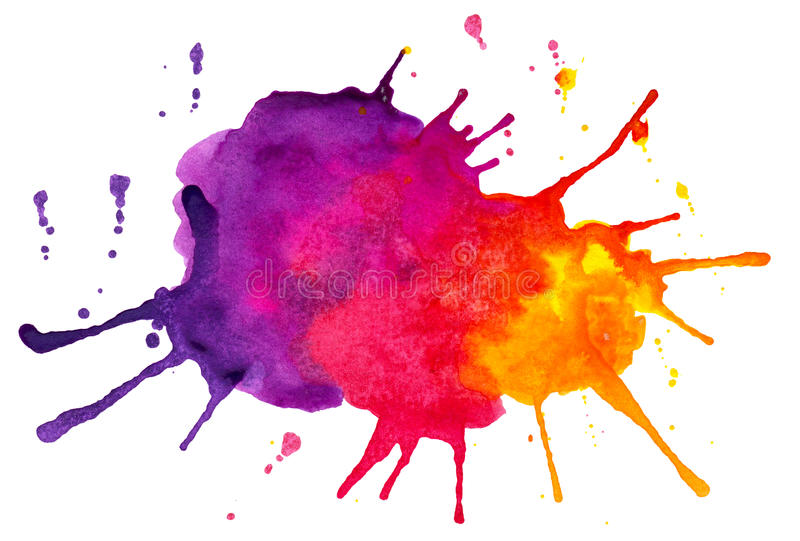 Abstract colorful spots and splashes vector illustration