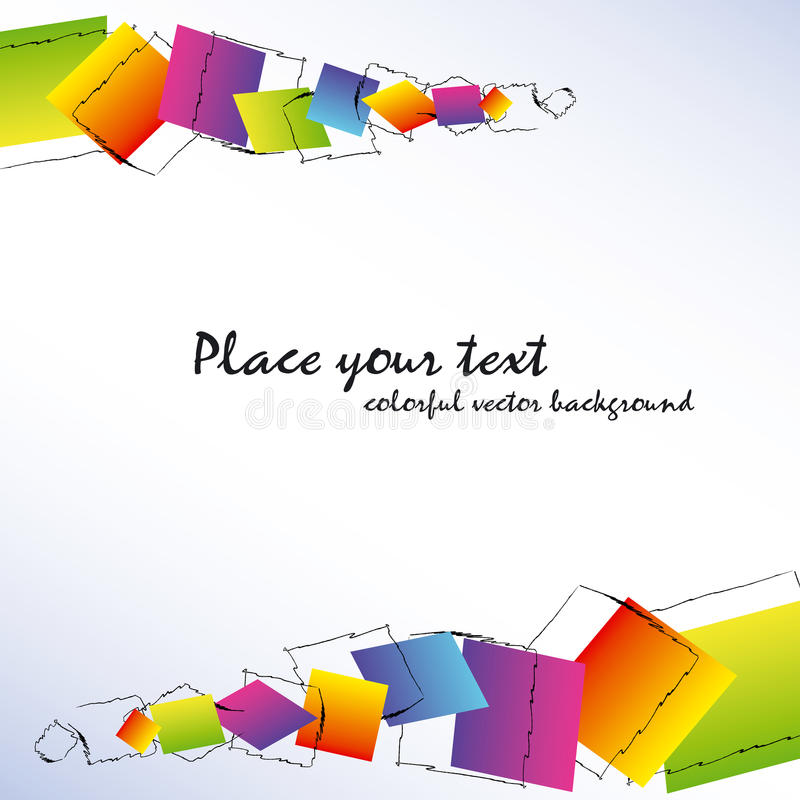 Download Abstract Colorful Square Background Stock Vector - Illustration of card, copy: 14293572