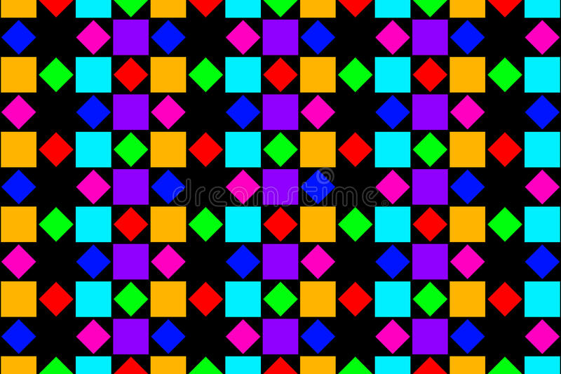 Abstract colorful squares, and diamonds. vector illustration