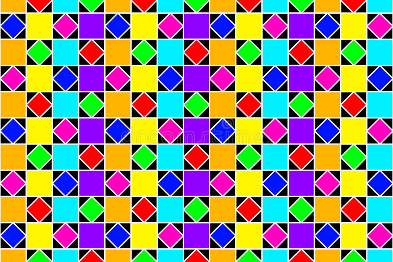 Abstract colorful squares, and diamonds. royalty free stock image