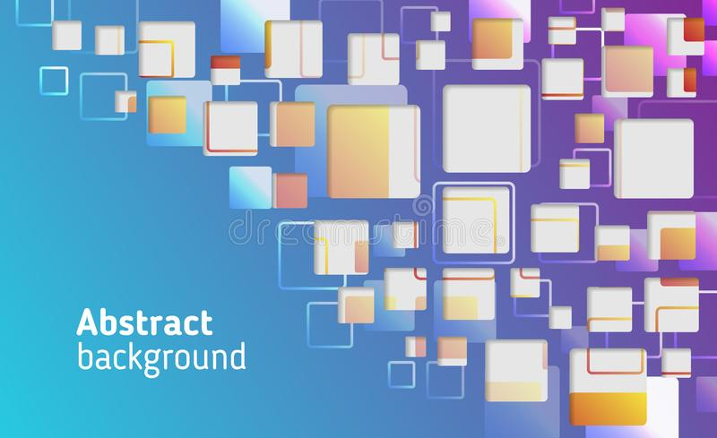 Abstract colorful squares vector background. Geometric square patterns, vector illustration royalty free illustration