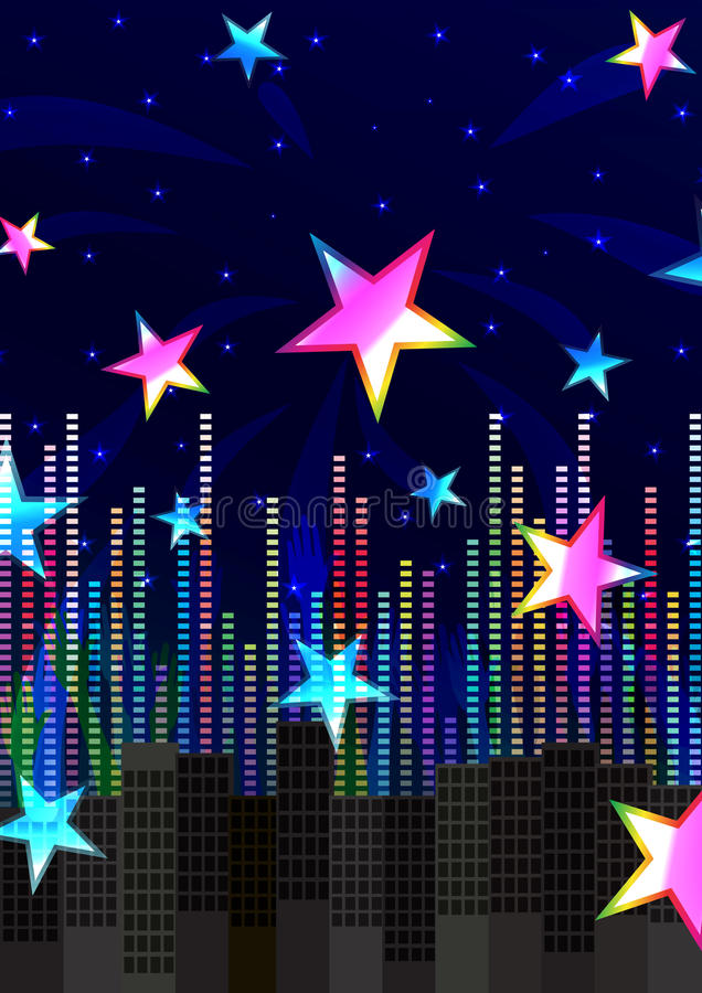 Abstract Colorful Stars Cheerful_eps stock illustration