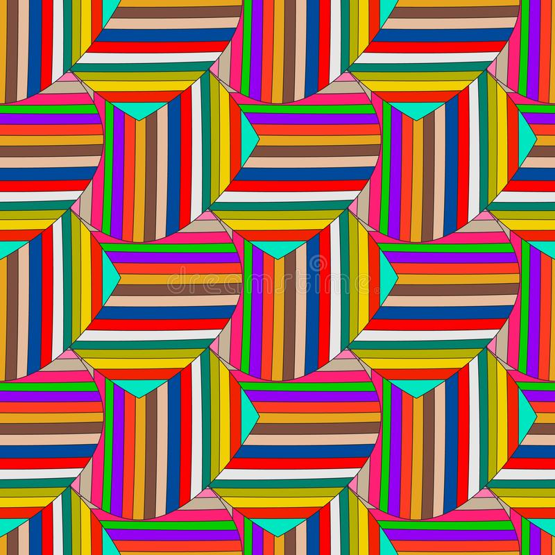Abstract colorful striped vector seamless pattern. Ornamental multicolor geometric background. Multicolor stripes, lines, shapes. Bright decorative repeat vector illustration