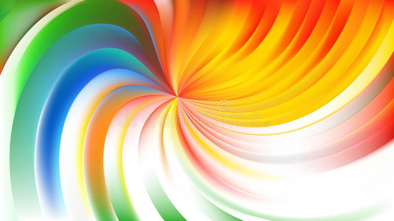 Abstract Colorful Swirl Background Illustration 皇族释放例证