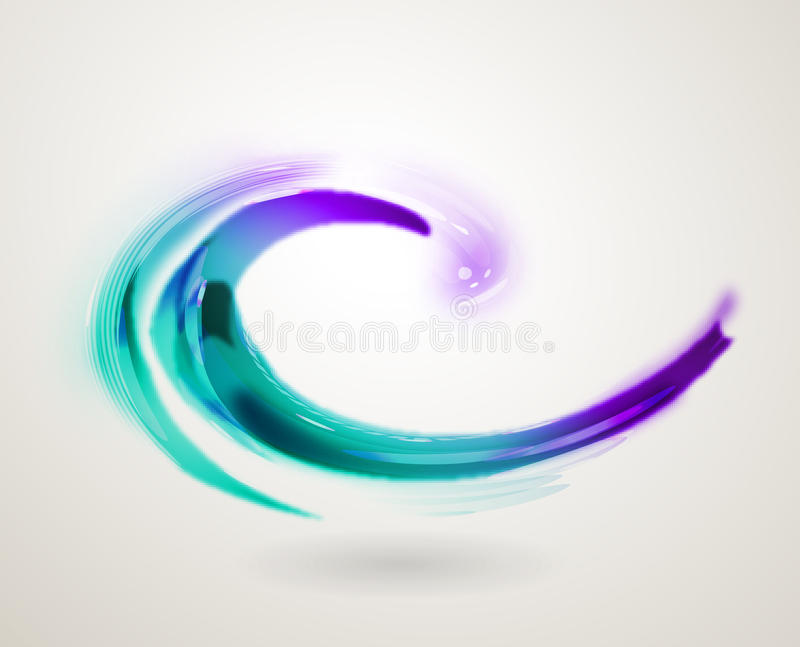 Abstract colorful swirl icon symbol stock illustration