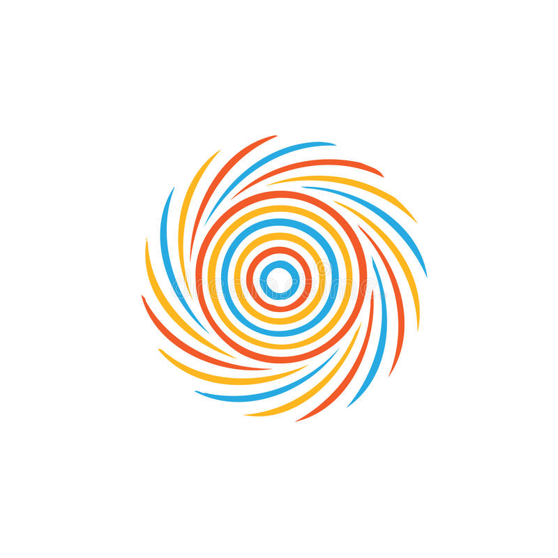Abstract colorful swirl image. vector illustration