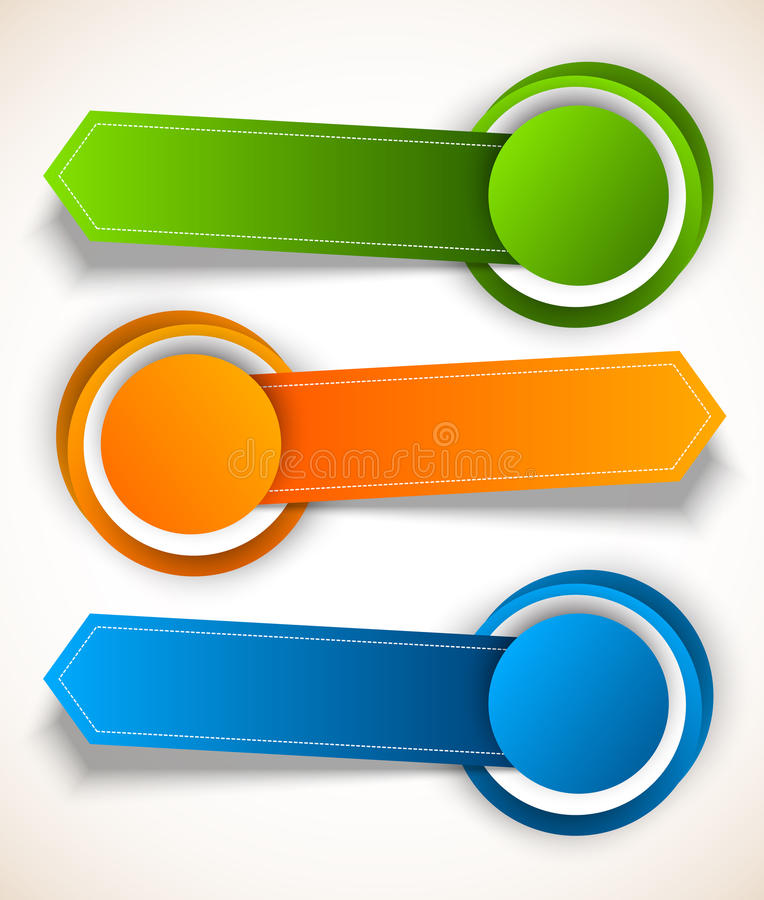 Abstract colorful tags vector illustration