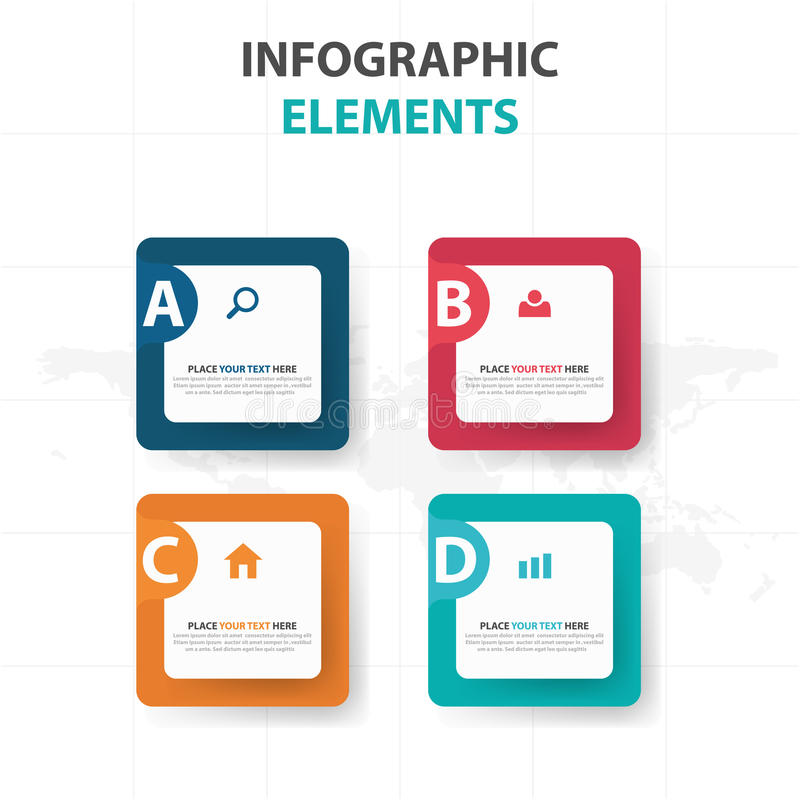 abstract colorful text box business infographics elements, Presentation templates