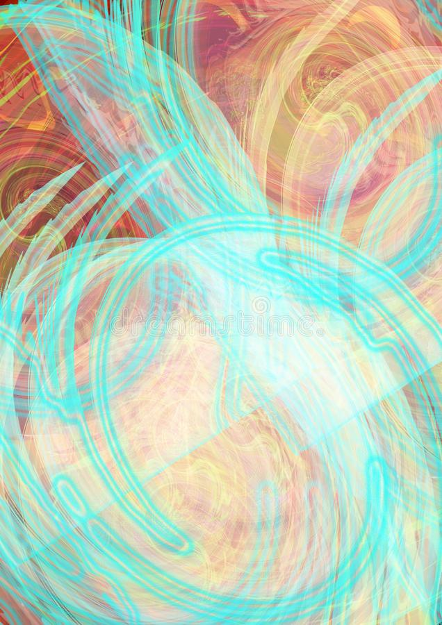 Abstract colorful texture swirl  background royalty free illustration
