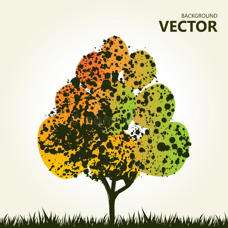 Download Abstract Colorful Tree Background Stock Vector - Illustration of composition, painting: 19517703