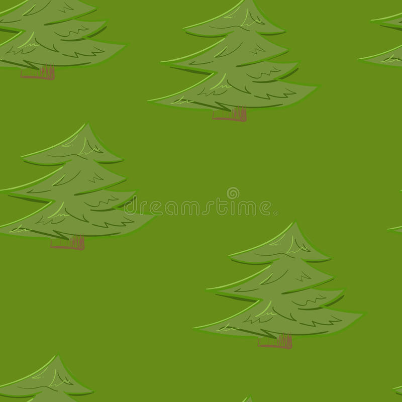 Abstract colorful tree forest seamless pattern background in cartoon style stock photo