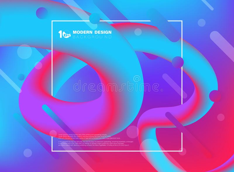 Abstract colorful of trendy design fluid line swirl decoration cover background. illustration vector eps10 stock illustration