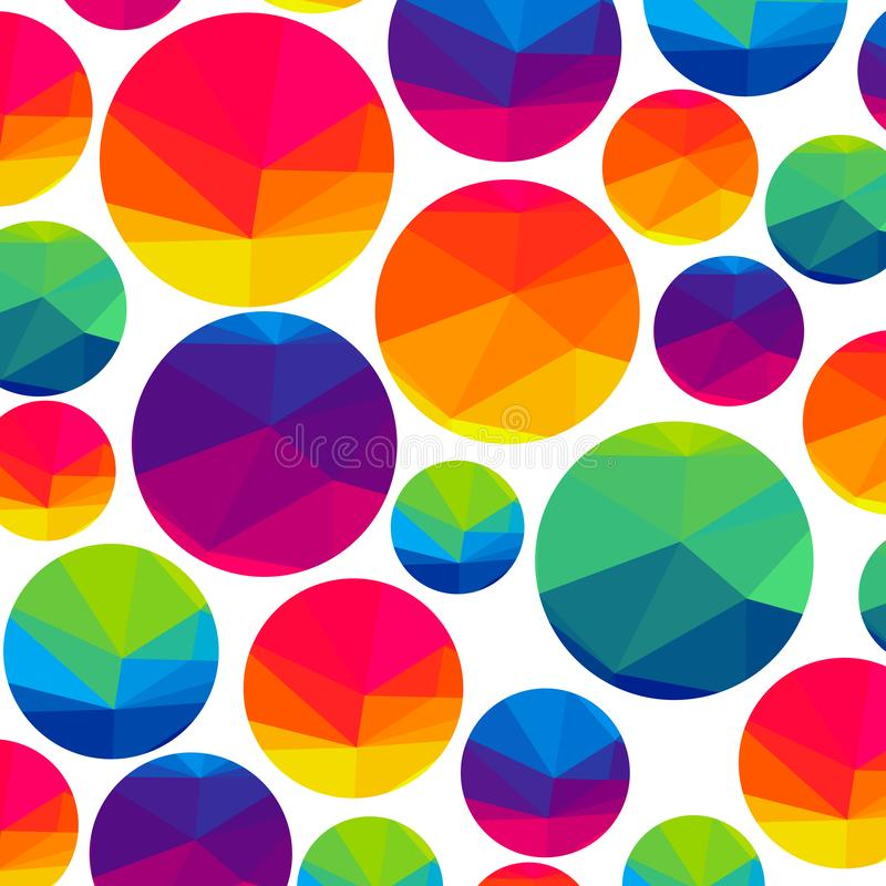 Abstract colorful triangle circles on a light background. Vector illustration royalty free illustration
