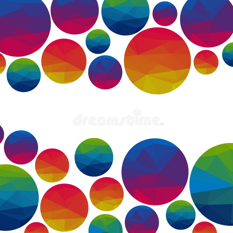 Abstract colorful triangle circles on a light background. Vector vector illustration