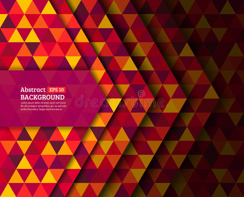 Abstract colorful triangles background design. With shadow. Colorful modern low poly abstract background. Vector illustration eps 10 vector illustration
