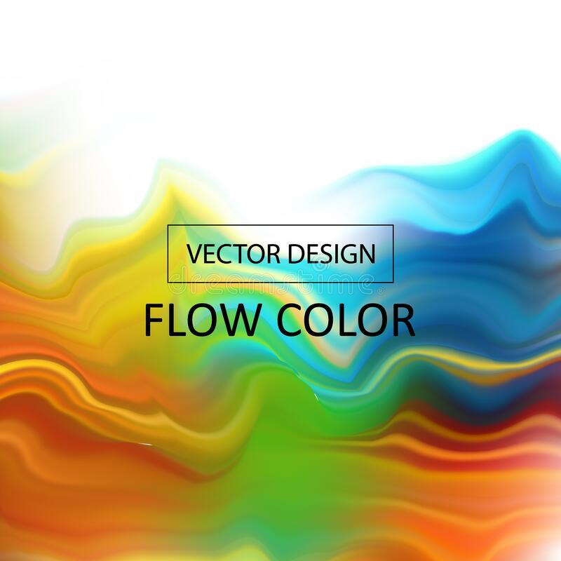 Abstract colorful vector background, color flow liquid wave for design brochure, website, flyer. Stream fluid. Acrylic paint. eps. Abstract colorful vector stock photo
