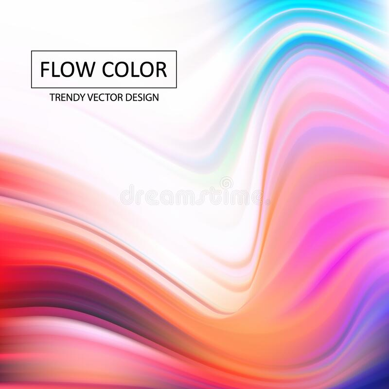 Abstract colorful vector background, color flow liquid wave for design brochure, website, flyer. Stream fluid. Acrylic paint. eps. Abstract colorful vector stock images