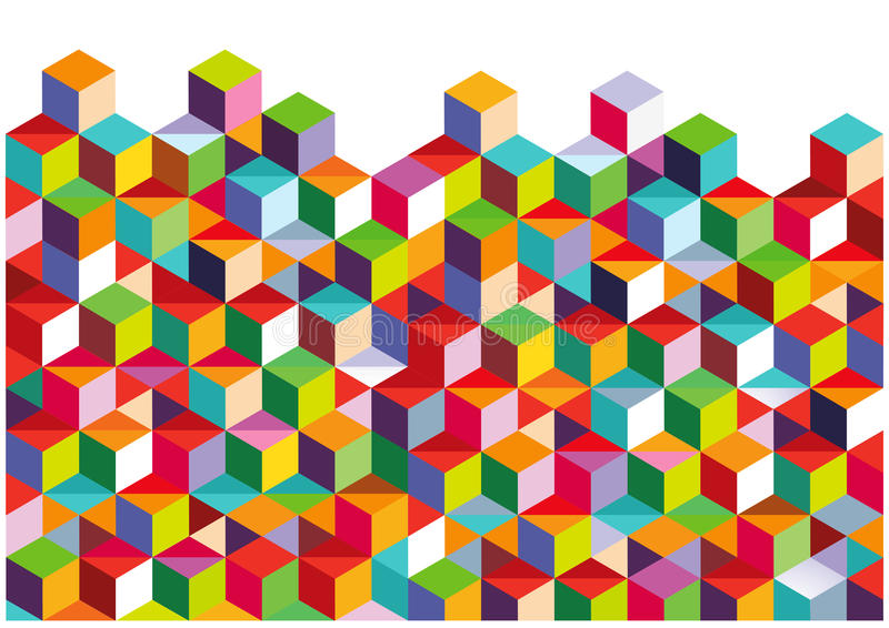 Abstract colorful wall royalty free illustration