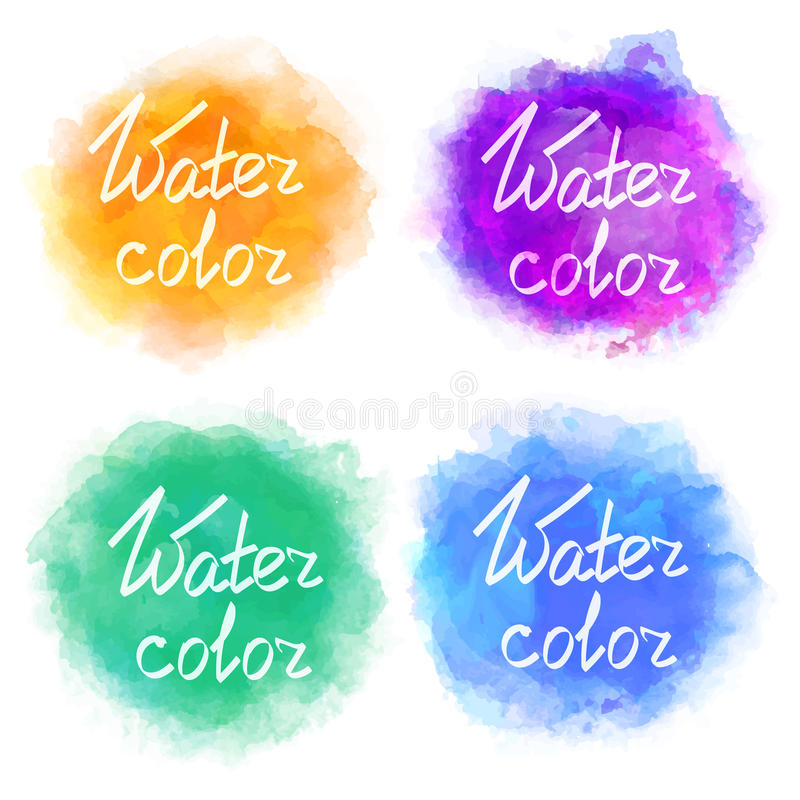 Abstract colorful water color backgrounds vector illustration
