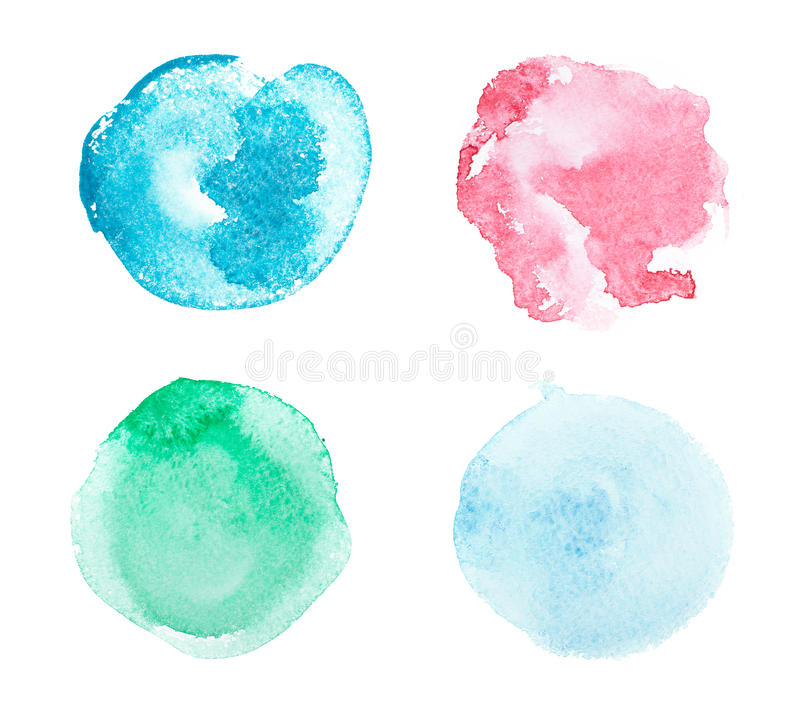 Abstract colorful watercolor aquarelle hand drawn stock images
