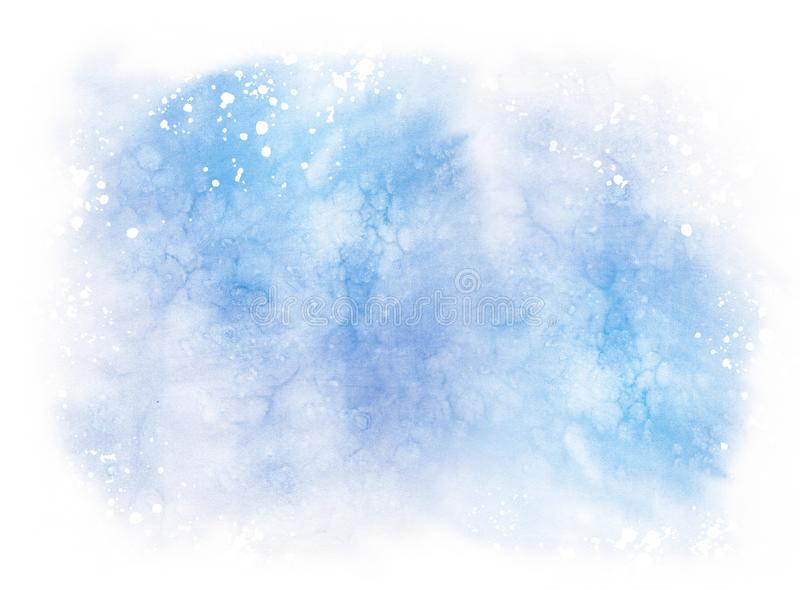 Abstract blue colorful watercolor horizontal background royalty free illustration