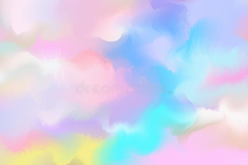 Abstract colorful watercolor for background. Digital art painting.  royalty free illustration