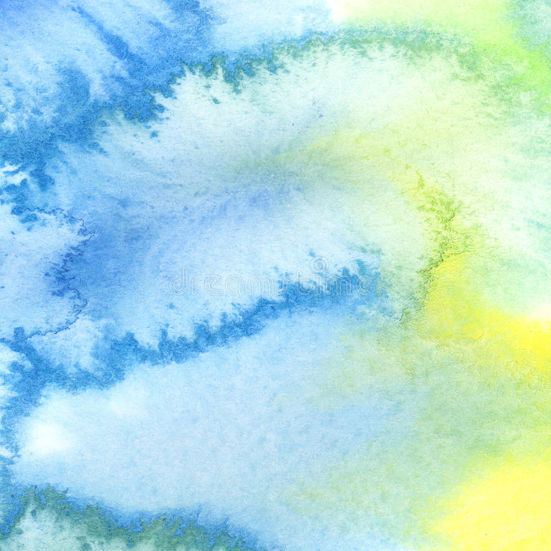 Abstract colorful watercolor background on paper royalty free illustration