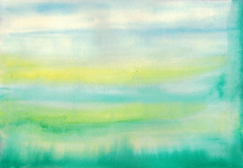 Abstract colorful watercolor for background stock photography
