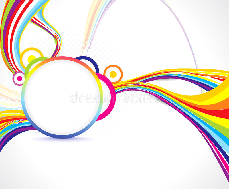 Abstract colorful wave background. Vector illustration vector illustration