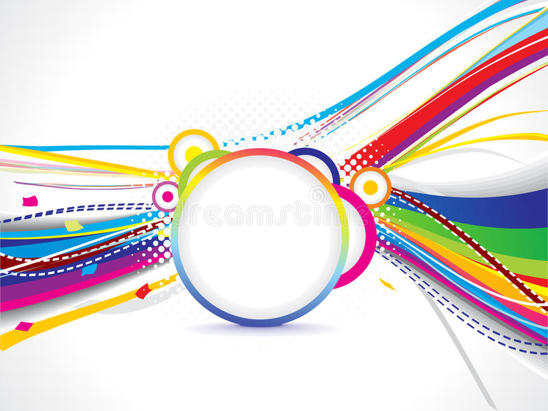 Abstract Volleyball On Colorful Wave Background: Abstract Colorful Wave Background With Grunge Stock Vector