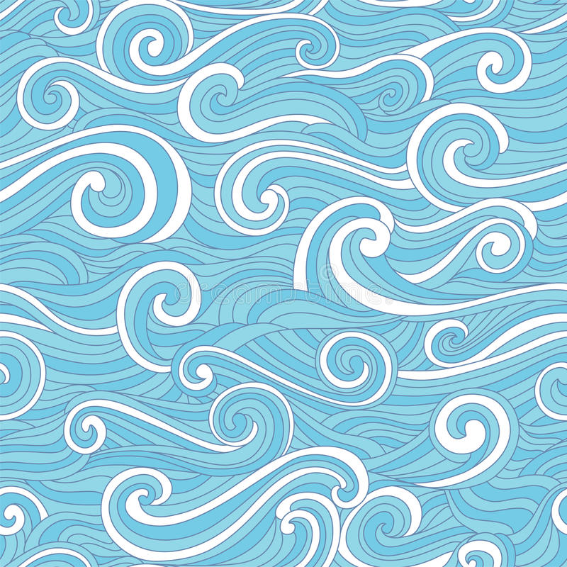 Abstract colorful wave pattern royalty free illustration