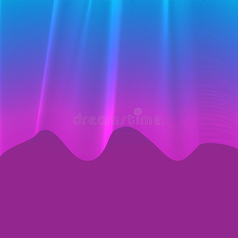 Abstract colorful wave violet vector background stock illustration