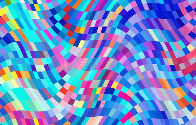 Abstract colorful waving pattern design stock photography