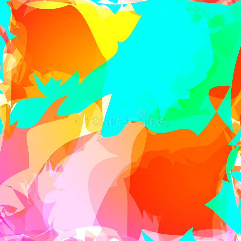 Abstract colorful wavy background.Gradient shiny overlay. Bright poster, banner, web design element in vibrant colors.Can be used. For wallpaper, flyer stock illustration