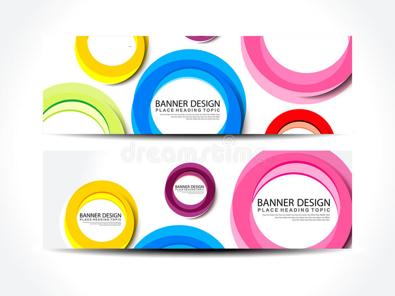 Abstract Colorful Web Banner Set Royalty Free Stock Image